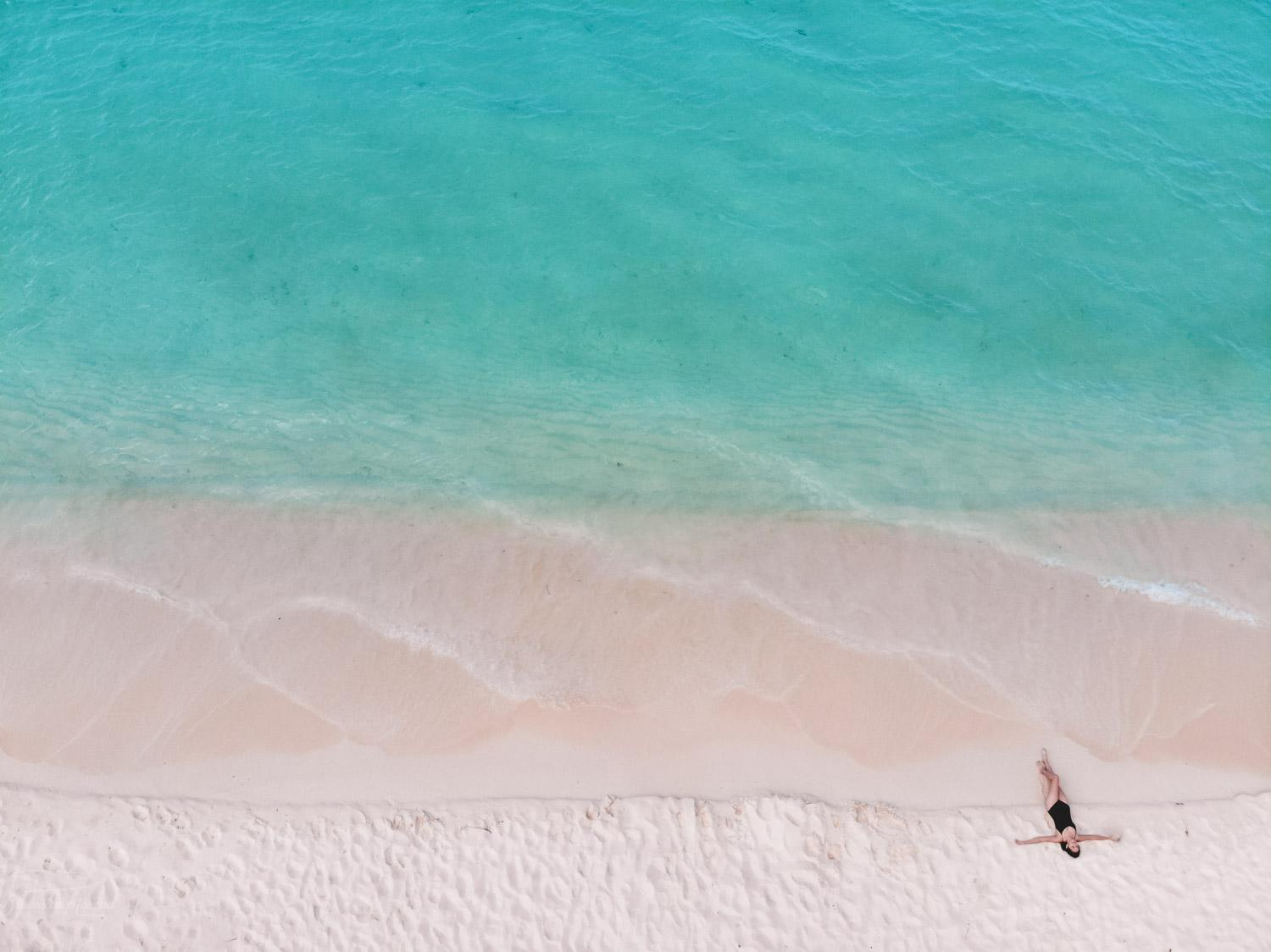 The beautiful white sand and turquoise water of bahia de las aguilas beach