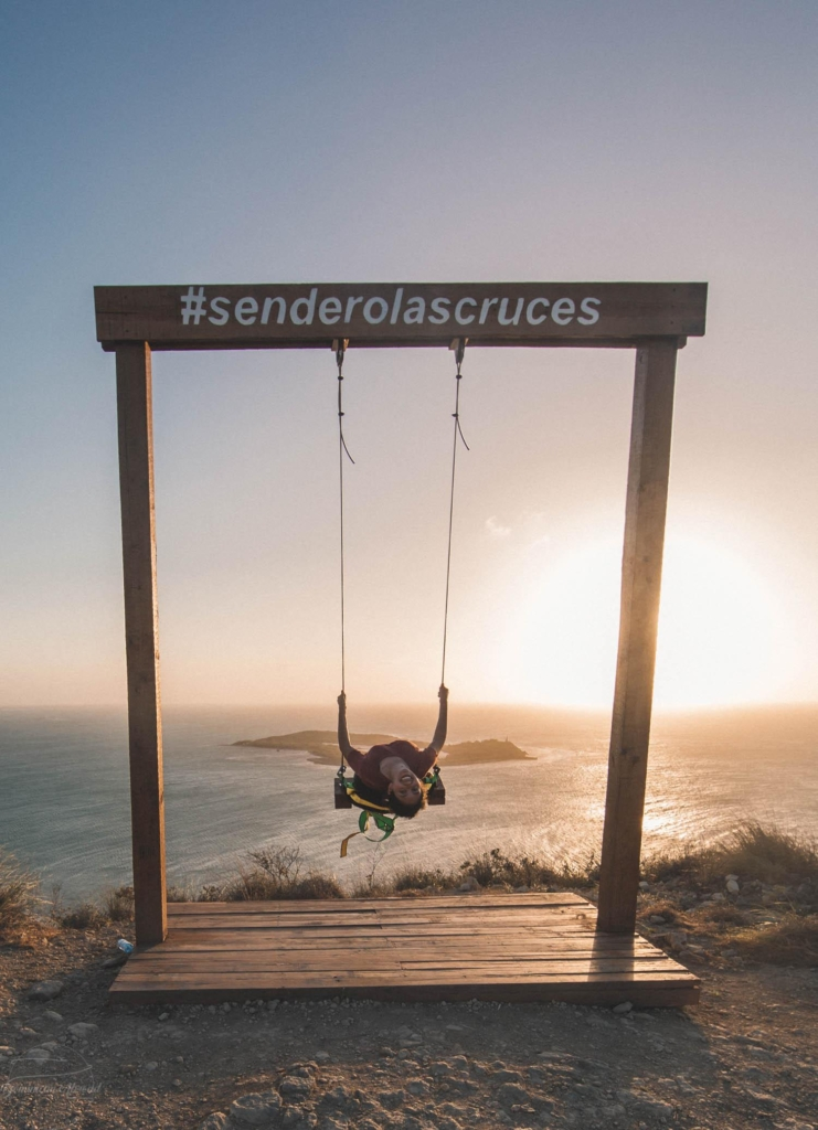 A swing with a panoramic view of el Morro